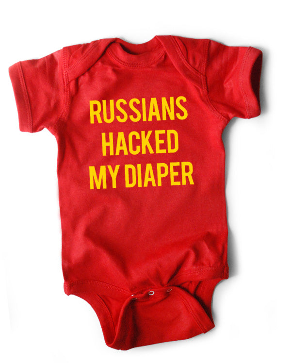 Russians Hacked My Diaper (3-pack) on Red