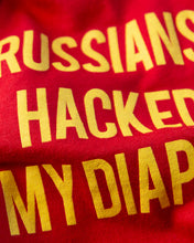 Load image into Gallery viewer, Russians Hacked My Diaper (3-pack) on Red