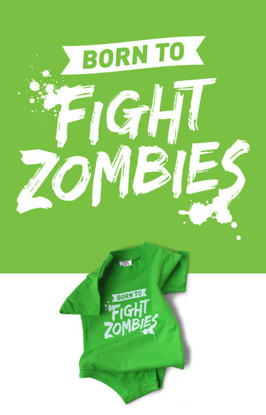 Born to Fight Zombies Snapsuit™ (3-pack)