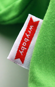 Green Onesie Woven Tag