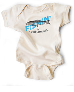 Fishin' for Compliments Snapsuit™ (3-pack)
