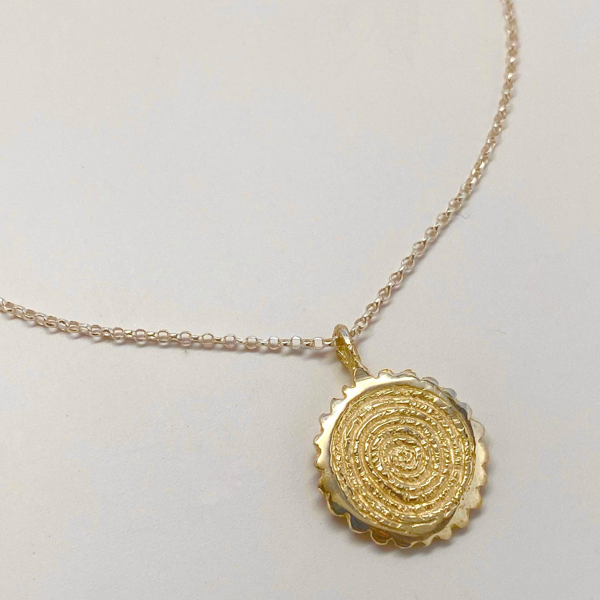 Gold-Plate Helix Necklace