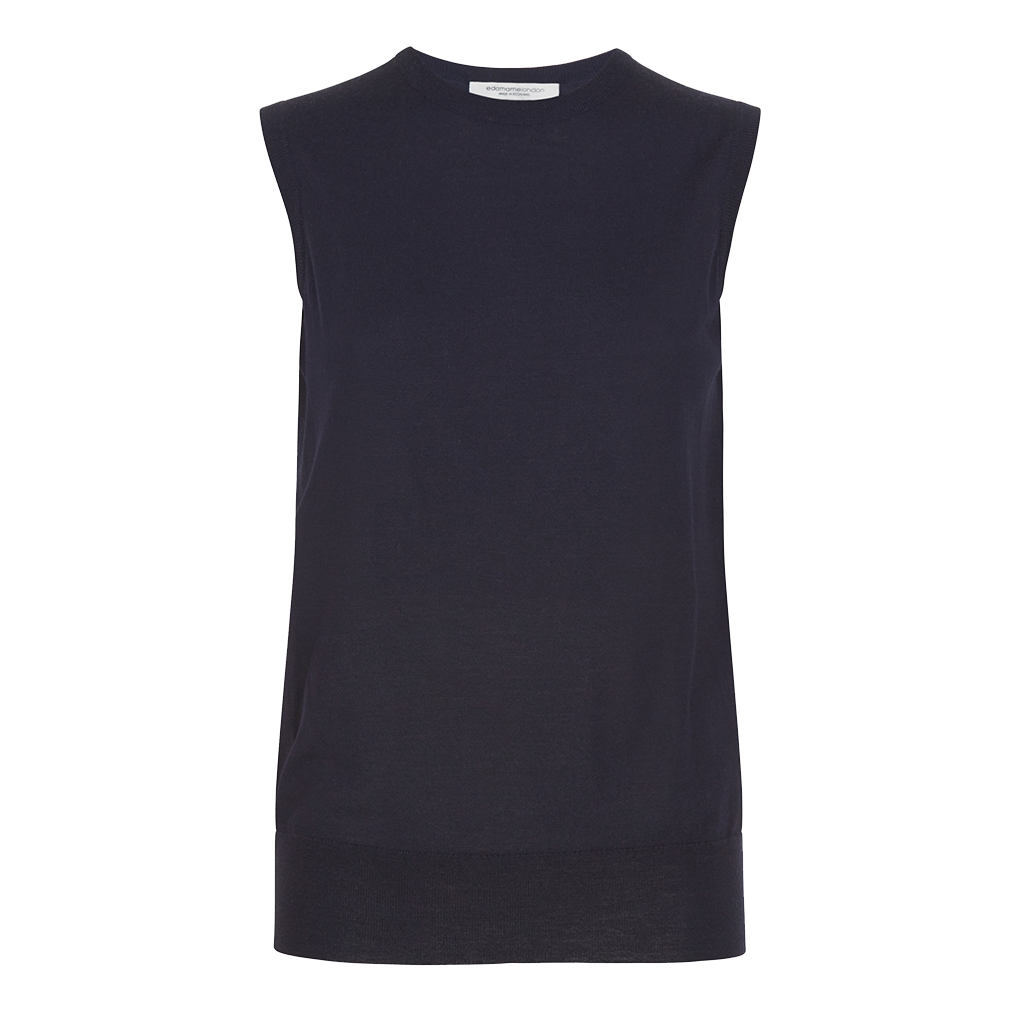 Alexa Sleeveless Vest Navy