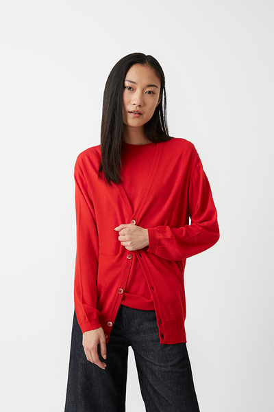 Alex Boyfriend Cardigan Red