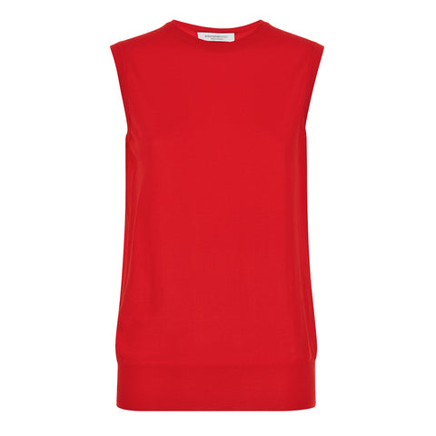 Alexa Sleeveless Vest Red