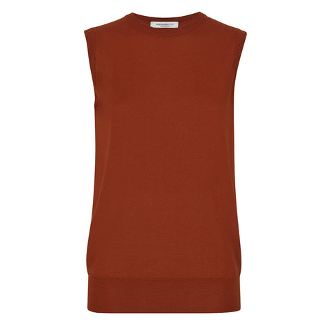 Alexa Sleeveless Vest Rust