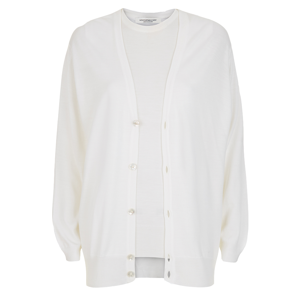 Boyfriend Twinset Off-white