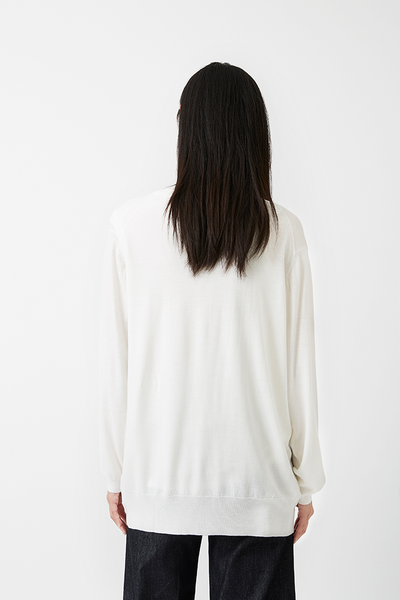 Alex Boyfriend Cardigan Off-white