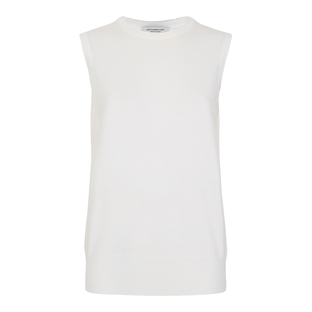 Alexa Sleeveless Vest  Off-White