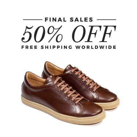 Epaulet Los Angeles Tennis Trainer Low Couro Cromo Steerhide Saddle - FINAL SALE - FREE SHIPPING WORLDWIDE