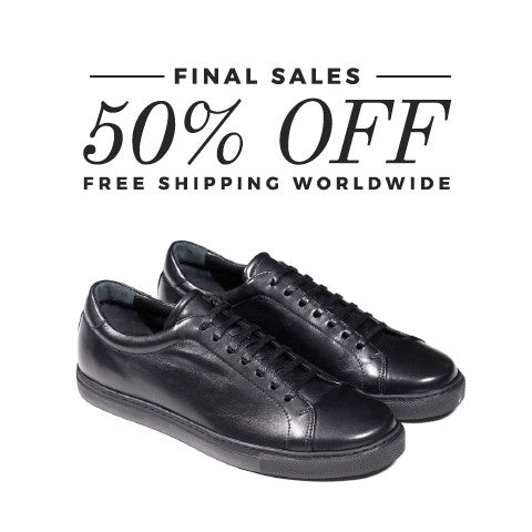 Epaulet Los Angeles Tennis Trainer Low Monochrome Black - FINAL SALE - FREE SHIPPING WORLDWIDE