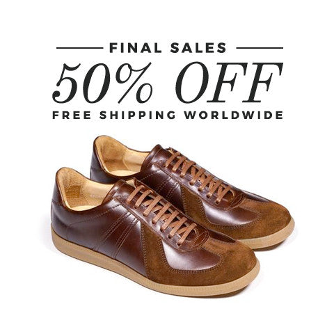 Epaulet Los Angeles Sport Trainer Couro Cromo Steerhide Saddle - FINAL SALE - FREE SHIPPING WORLDWIDE
