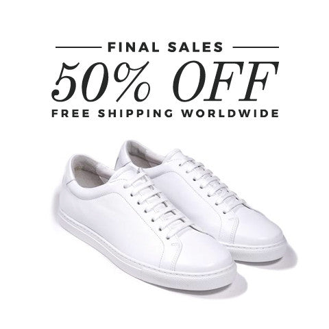 Epaulet Los Angeles Tennis Trainer Low Monochrome White - END OF SEASON SALE
