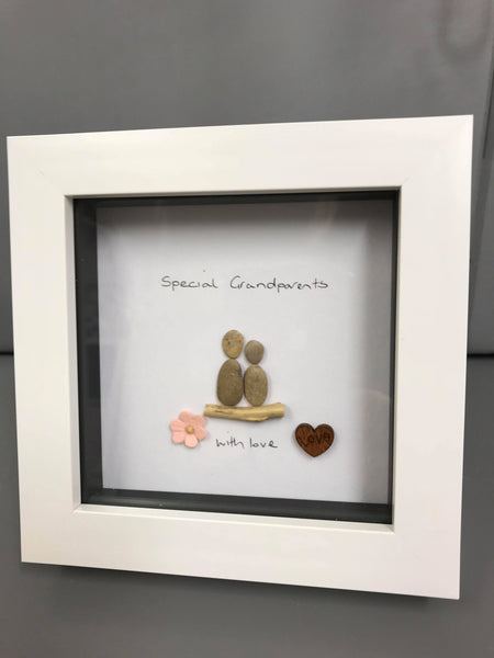 2 People Pebble Picture - Friends, Sisters, Love, Mum and Daughter, Mum and Son, Special Grandparents, Special Grandma, Special Nan