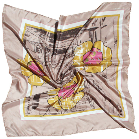 Original urban flower, square silk