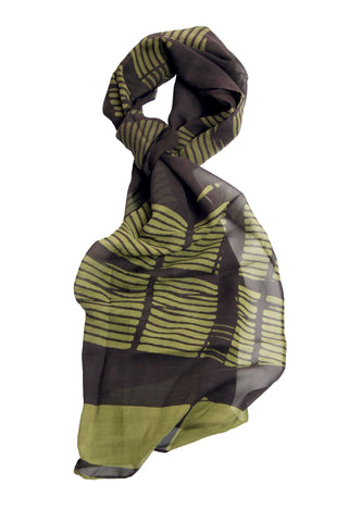 silk georgette scarf- Norman Foster Berlin-Large