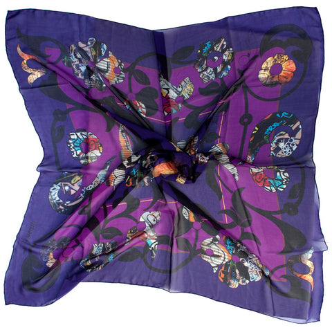 Silk scarf-East London flower