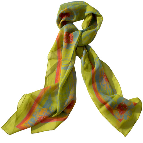 Silk Scarf-Urban Flower