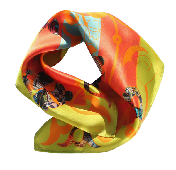 Silk square scarf East London