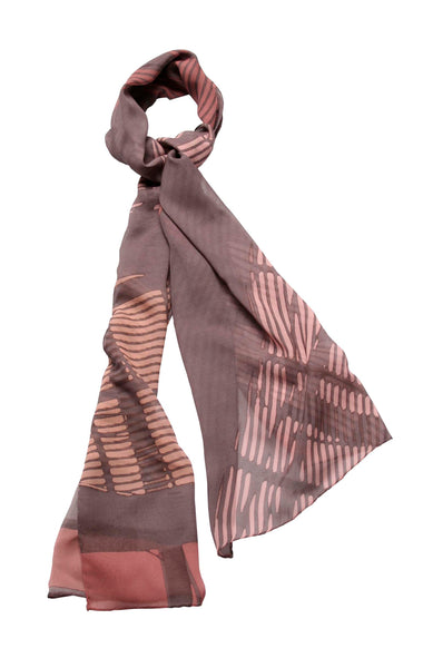 Norman Foster Berlin- long large silk scarf