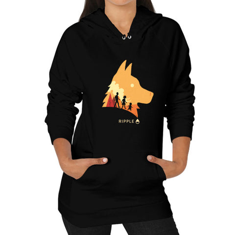 Best Friend Hoodie (Women's) Black Ripple Design