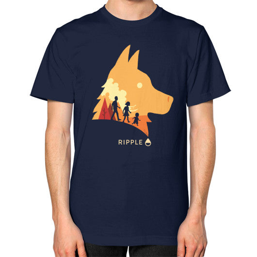 Best Friend T-Shirt (Men's) Navy Ripple Design