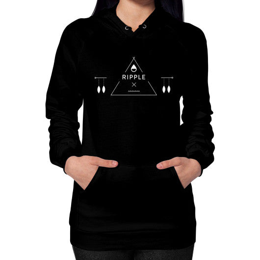 Executive Hoodie (Women's) Black Ripple Design
