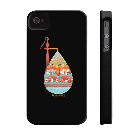 Life's Well Phone Case Slim iPhone 4/4s - Ripple Design