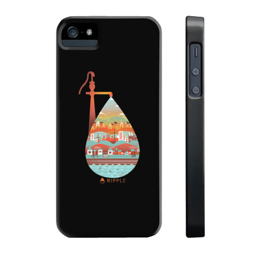 Life's Well Phone Case Slim iPhone 5/5s - Ripple Design