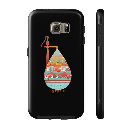 Life's Well Phone Case Tough Galaxy s6 - Ripple Design