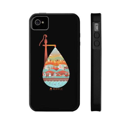 Life's Well Phone Case Tough iPhone 4/4s - Ripple Design