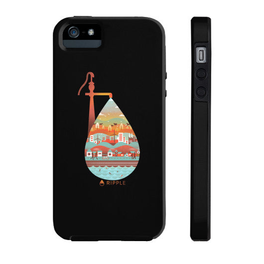 Life's Well Phone Case Tough iPhone 5/5s - Ripple Design