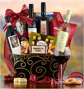 Gift Baskets with Wine Collection at Oxemize.com
