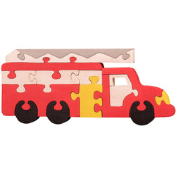 Wooden Jigsaw Puzzles for Toddlers Kids Baby 2 3 4 5 Year Preschool Fire Track
