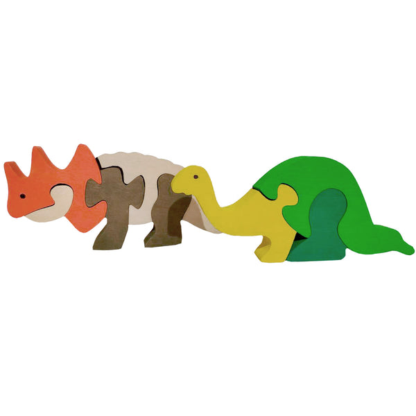 Wooden Jigsaw Puzzles for Toddlers Kids Baby 2 3 4 5 Year Preschool Toys Dino1