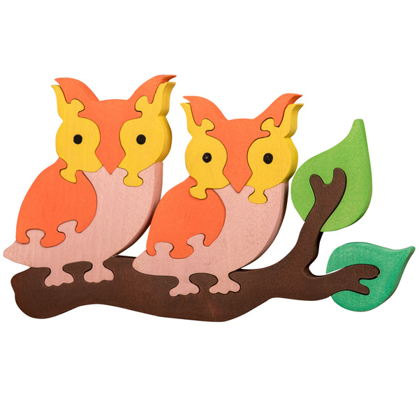 Wooden Jigsaw Puzzles for Toddlers Kids Baby 2 3 4 5 Year Preschool Toys Owls