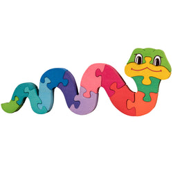 Wooden Jigsaw Puzzles for Toddlers Kids Baby 2 3 4 5 Year Preschool Toys Snake