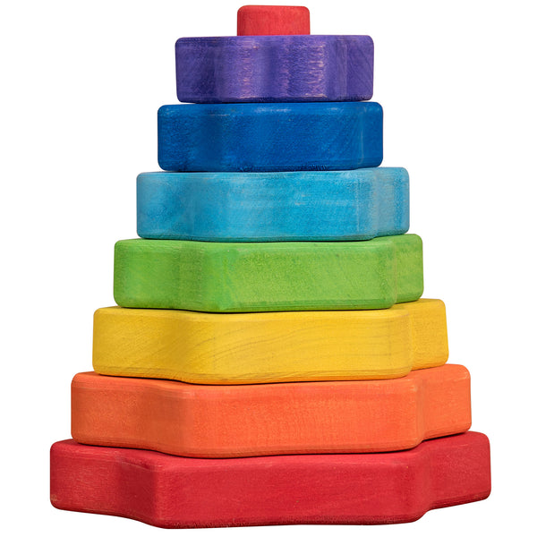 Wooden Puzzles for Toddlers Kids Baby 2 3 4 5 Year Olds Stacking Toy Pyramid