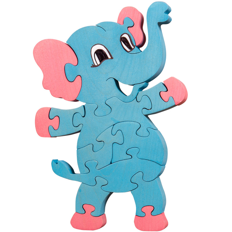 Wooden Jigsaw Puzzles for Toddlers Kids Baby 2 3 4 5 Year Preschool Elephant