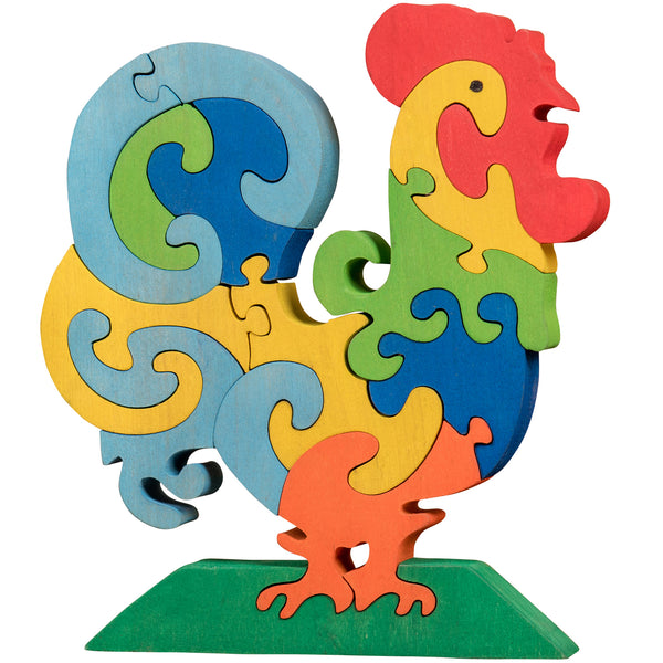 Wooden Jigsaw Puzzles for Toddlers Kids Baby 2 3 4 5 Year Preschool Toys Rooster