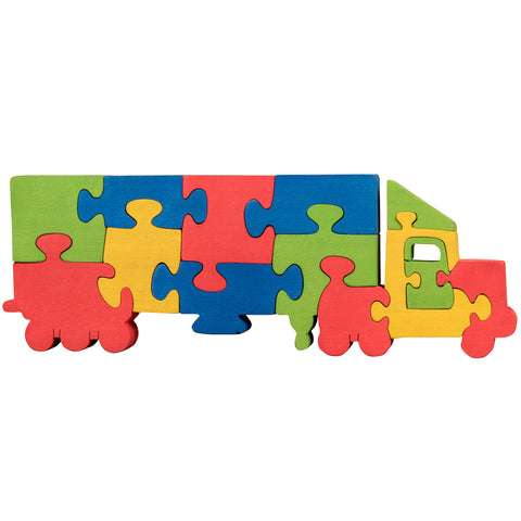 Wooden Jigsaw Puzzles for Toddlers Kids Baby 2 3 4 5 Year Preschool Toys Track1
