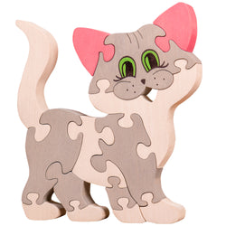 Wooden Jigsaw Puzzles for Toddlers Kids Baby 2 3 4 5 Year Preschool Toys Cat