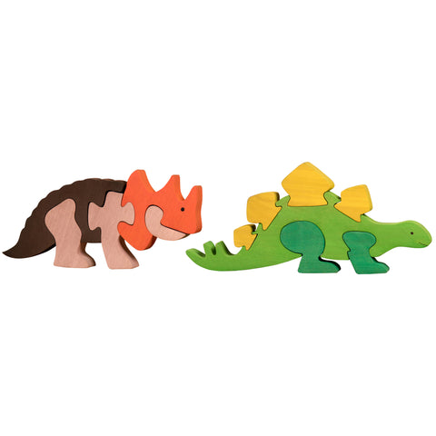 Wooden Jigsaw Puzzles for Toddlers Kids Baby 2 3 4 5 Year Preschool Toys Dino