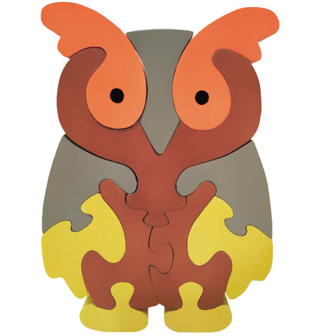 Wooden Jigsaw Puzzles for Toddlers Kids Baby 2 3 4 5 Year Preschool Toys Owl