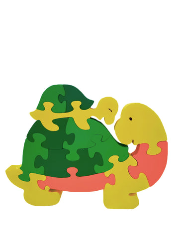 Wooden Jigsaw Puzzles for Toddlers Kids Baby 2 3 4 5 Year Olds Toys Turtle Small