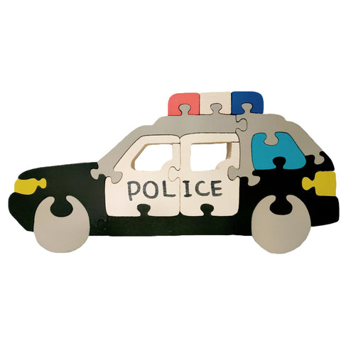 Wooden Jigsaw Puzzles for Toddlers Kids Baby 2 3 4 5 Preschool Toys Police Car
