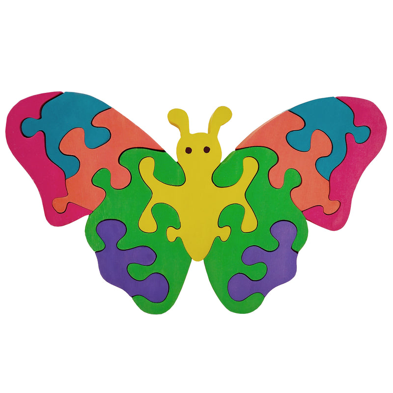 Wooden Jigsaw Puzzles for Toddlers Kids Baby 2 3 4 5 Year Preschool Butterfly