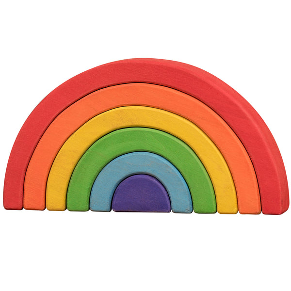 Wooden Puzzles for Toddlers Kids Baby 2 3 4 5 Year Olds Stacking Sorter Rainbow