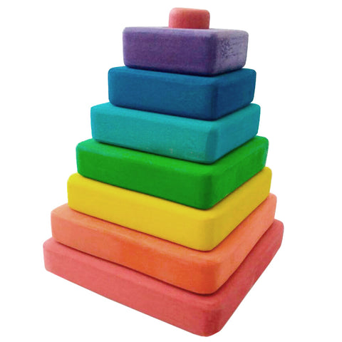 Wooden Puzzles for Toddlers Kids Baby 2 3 4 5 Year Olds Stacking Toy Pyramid Q