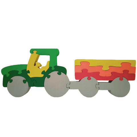 Wooden Jigsaw Puzzles for Toddlers Kids Baby 2 3 4 5 Year Olds Preschool Tractor